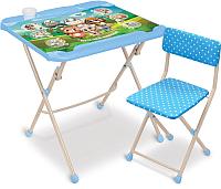 Комплект мебели с детским столом Ника Наши детки. Кто чей малыш? / КНД4/1 -