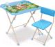 Комплект мебели с детским столом Ника КНД4/1 Наши детки. Кто чей малыш? -