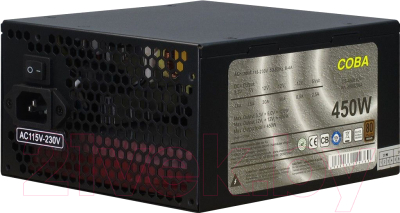 Блок питания для компьютера Inter-Tech Coba CS-450 IT 450W 82+ (80+ Bronze)