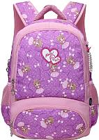 Школьный рюкзак Sun Eight Принцесса SE-8190 (фиолетовый/розовый) -