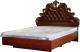 Двуспальная кровать Мебель-КМК Розалия 0456.6 (орех экко) -