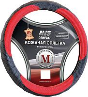 Оплетка на руль AVS GL-910M-BRD / A78673S (M, черный-красный) -