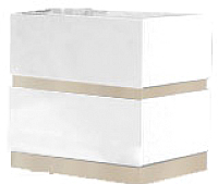 Прикроватная тумба Мебель-КМК Хилтон 2Я 0651.2 (дуб санома/белый глянец) -