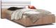 Двуспальная кровать Мебель-КМК 1600 Хилтон 0651.1 (дуб сонома/белый глянец) -