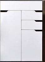 Шкаф Заречье Браво Б1 (орех вирджиния/белый глянец) -