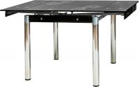 Обеденный стол Signal GD082 (черный/хром) -