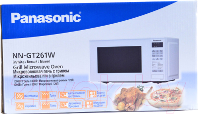 Микроволновая печь Panasonic NN-GT261WZPE - коробка
