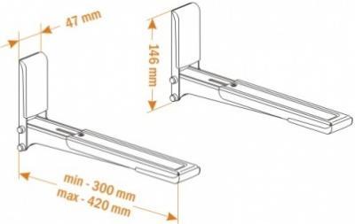 Кронштейн для крепления микроволновой печи Holder MWS-2003 (белый) - схематическое изображение
