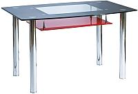 Обеденный стол Signal Twist A OP (красно-черный) -