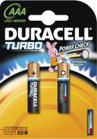 Комплект батареек Duracell Turbo LR03/MN2400/AAA 2BP -