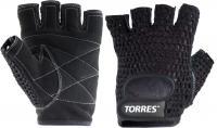 Перчатки для пауэрлифтинга Torres PL6045L (L, черный) -