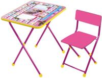 Комплект мебели с детским столом Ника КП2/3 Маша и Медведь: Азбука 3 (розовый) -