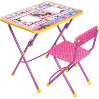Комплект мебели с детским столом Ника КУ1/3 Маша и медведь: Азбука3 -
