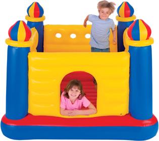 Батут надувной детский Intex Замок / 48259 - общий вид