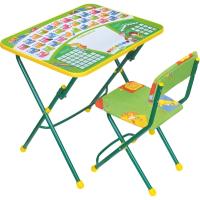 Комплект мебели с детским столом Ника КУ1/13 Первоклашка (на зеленом фоне) -
