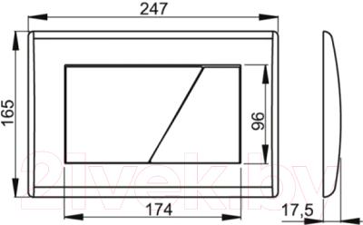 Кнопка для инсталляции Alcaplast M170 (белый)