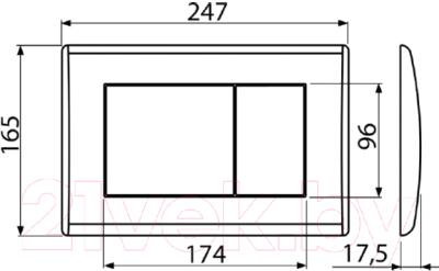 Кнопка для инсталляции Alcaplast M270 (белый)