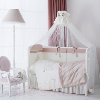 Комплект постельный в кроватку Perina Котята / КТ6-01.2 (карамель) - в интерьере (балдахин в комплект не входит)