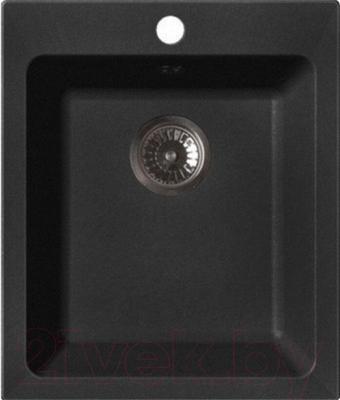 Мойка кухонная GranFest Practik GF-P505 (черный)