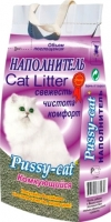 Наполнитель для туалета Pussy-cat Комкующийся / PUS007 (10л) -