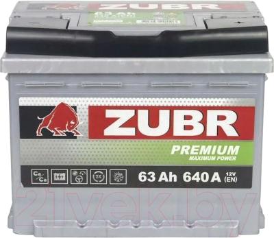 Автомобильный аккумулятор Zubr Premium R+