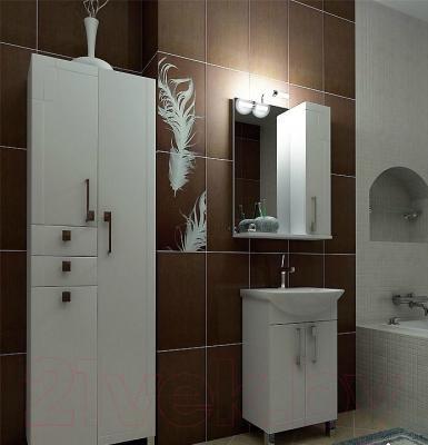 Шкаф с зеркалом для ванной Triton Диана 55 (002.42.0550.101.01.01 R) - в интерьере