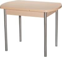 Обеденный стол Древпром М2 100x67 (металлик/дуб светлый) -