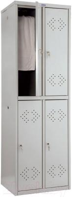 Шкаф металлический Практик LS(LE)-22