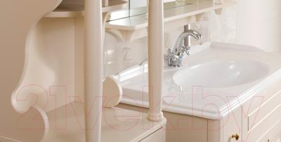 Зеркало Belux Флоренция В105 (слоновая кость с золотой патиной)
