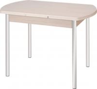 Обеденный стол Древпром М2 100x67 (металлик/жемчуг) -