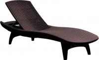 Шезлонг Keter Pacific Lounger / 211104 (коричневый) -