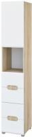 Шкаф-пенал Мебель-Неман Леонардо МН-026-20 (белый полуглянец/дуб Сонома) -