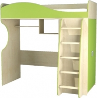 Кровать-чердак Мебель-Неман Комби МН-211-01 (береза/лайм) -