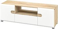 Тумба Мебель-Неман Леонардо МН-026-02 (белый полуглянец/дуб Сонома) -