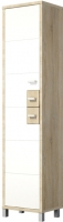 Шкаф-пенал Мебель-Неман Домино Сонома ВК-04-01 (белый полуглянец/дуб Сонома) -