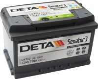 Автомобильный аккумулятор Deta Senator3 DA722 (72 А/ч) -