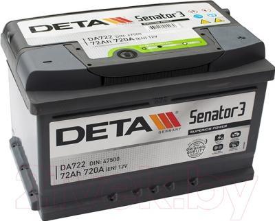 Автомобильный аккумулятор Deta Senator3 DA722