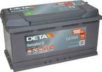 Автомобильный аккумулятор Deta Senator DA1000 (100 А/ч) -