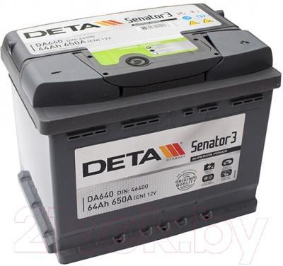 Автомобильный аккумулятор Deta