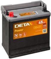 Автомобильный аккумулятор Deta Power DB451 (45 А/ч) -