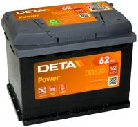 Автомобильный аккумулятор Deta Power DB620 (62 А/ч) -