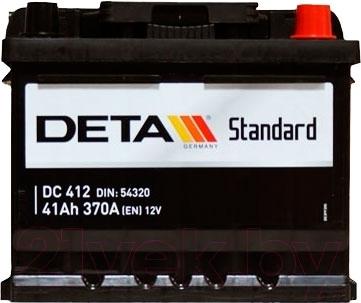 Автомобильный аккумулятор Deta Standard DC412