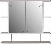 Шкаф с зеркалом для ванной Гамма 11/1 (белый) -