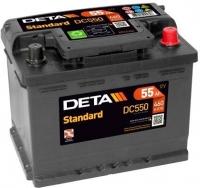 Автомобильный аккумулятор Deta Standard DC550 (55 А/ч) -