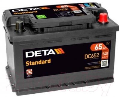 Автомобильный аккумулятор Deta Standard DC652