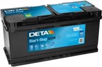 Автомобильный аккумулятор Deta Start-Stop AGM DK1050 (105 А/ч) -