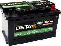 Автомобильный аккумулятор Deta Micro-Hybrid AGM DK800 (80 А/ч) -