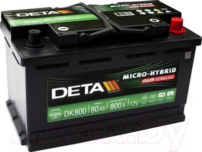 Автомобильный аккумулятор Deta Micro-Hybrid AGM DK800