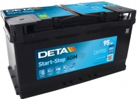 Автомобильный аккумулятор Deta Start-Stop AGM DK950 (95 А/ч) -