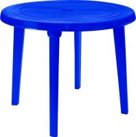 Стол пластиковый Алеана Круглый D90 (темно-синий) -
